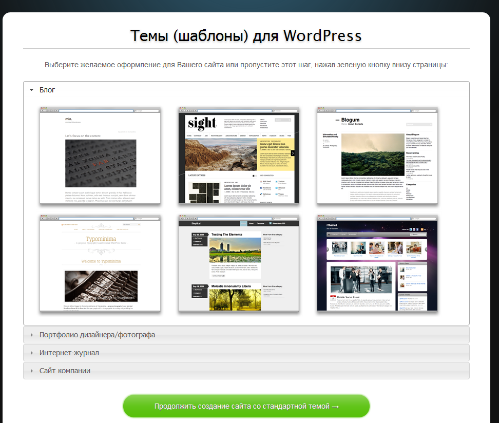 Создание сайтов на вордпресс бесплатно открытие веб студии по созданию сайтов